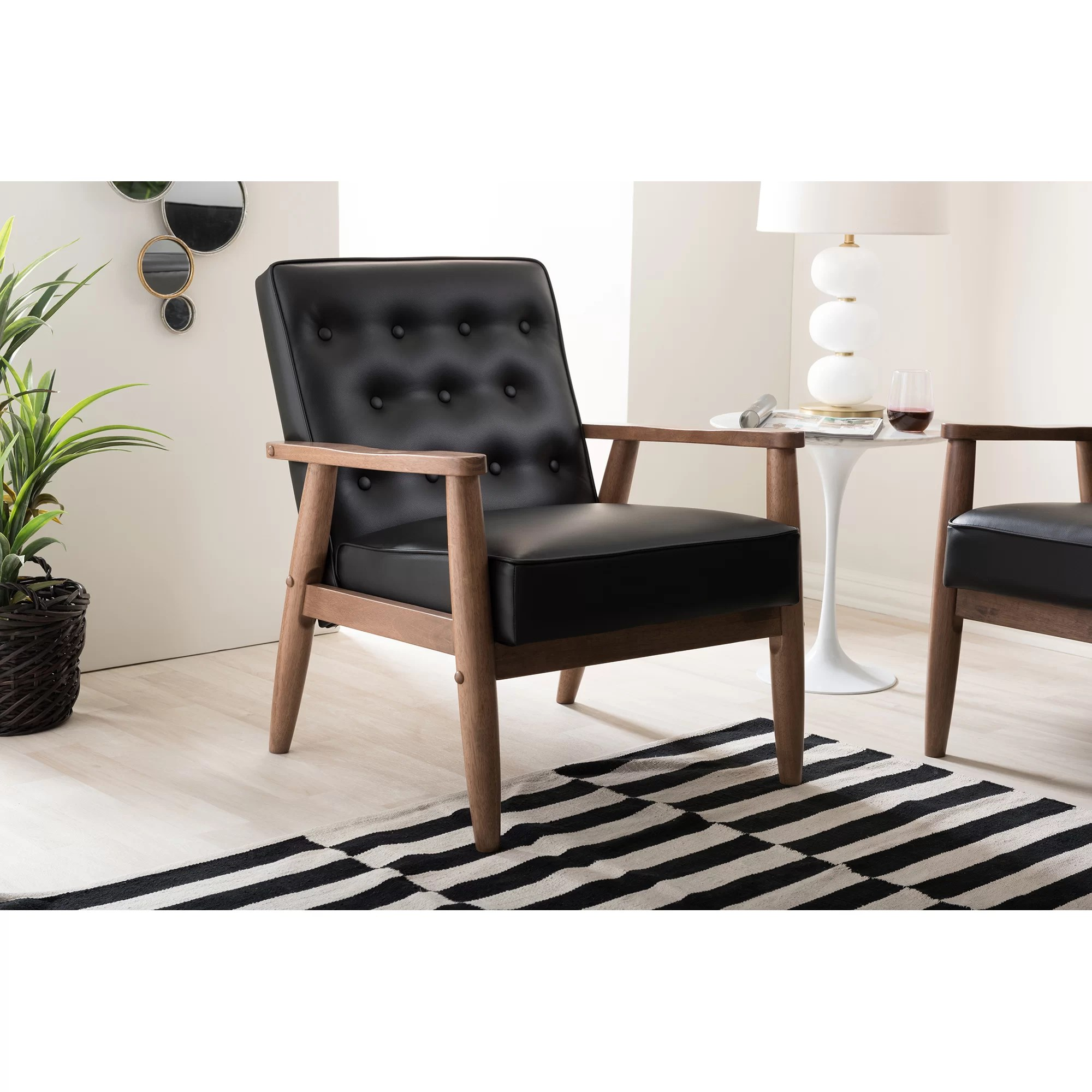 Wooden Lounge Chair Baxton Studio Lounge Chair Wayfair