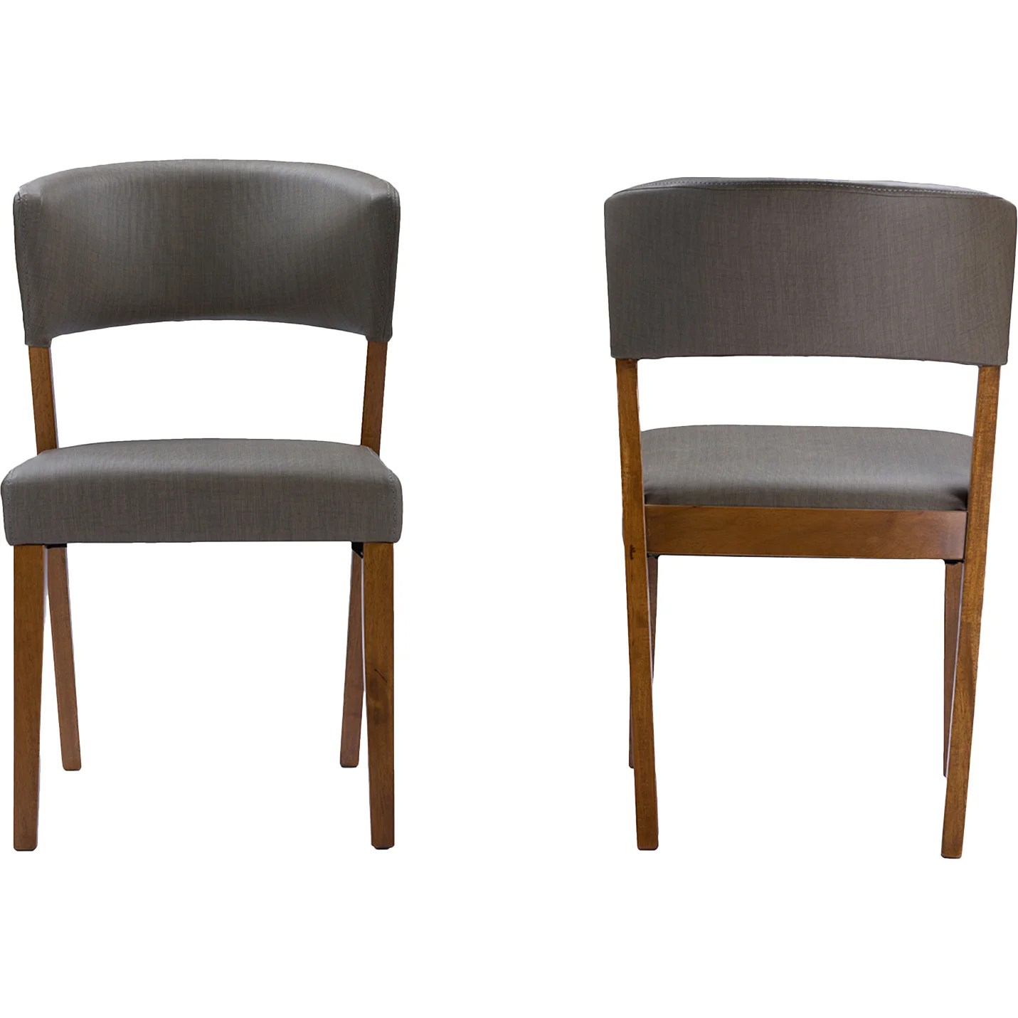 Grey Wood Dining Chairs Baxton Studio Montreal Side Chair Wayfair