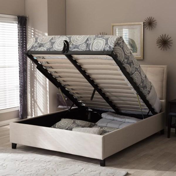 Upholstered Queen Platform Storage Bed