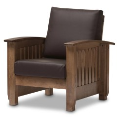 Baxton Studio Modern Leather Accent Chair Outdoor Hanging Chairs Wholesale Interiors Benigno Faux Arm