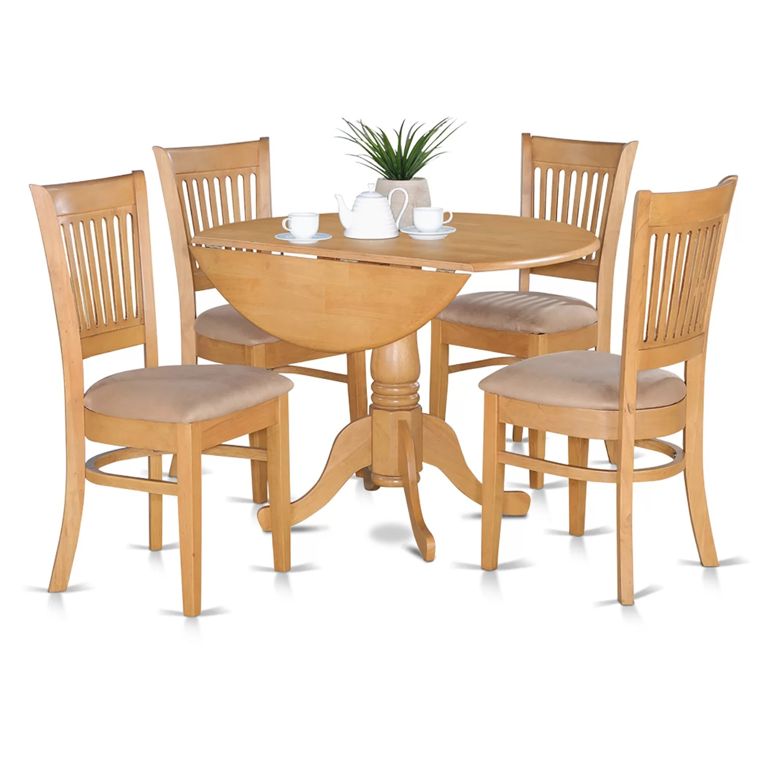 Drop Leaf Table With Chairs East West Dublin 5 Piece Dining Set And Reviews Wayfair