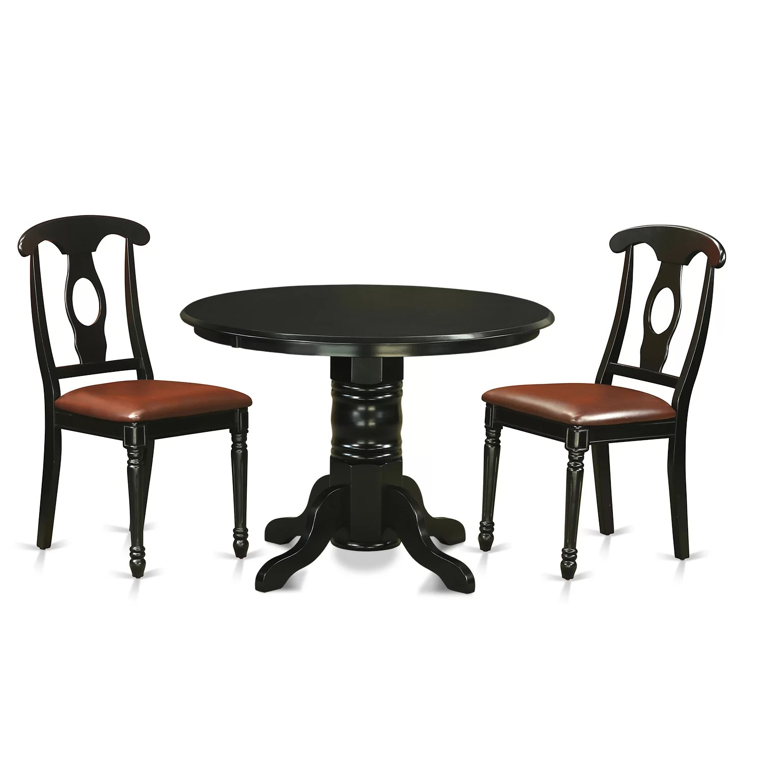 Wayfair Dining Chairs Shelton 3 Piece Dining Set Wayfair