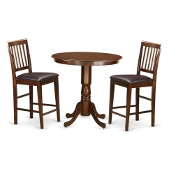 Pub Table And Chairs 3 Piece Set 2 Freedom Chair Accessories Jackson Counter Height Wayfair