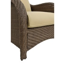 Hanover Newport 6 Piece Wicker Deep Seating Group With