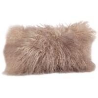 Saro Mongolian Lamb Fur Lumbar Pillow & Reviews   Wayfair