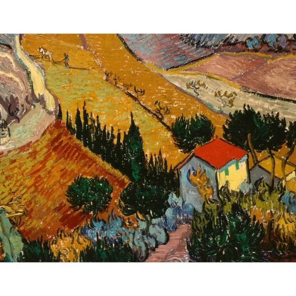 Trademark Art 'landscape With House' Vincent Van Gogh