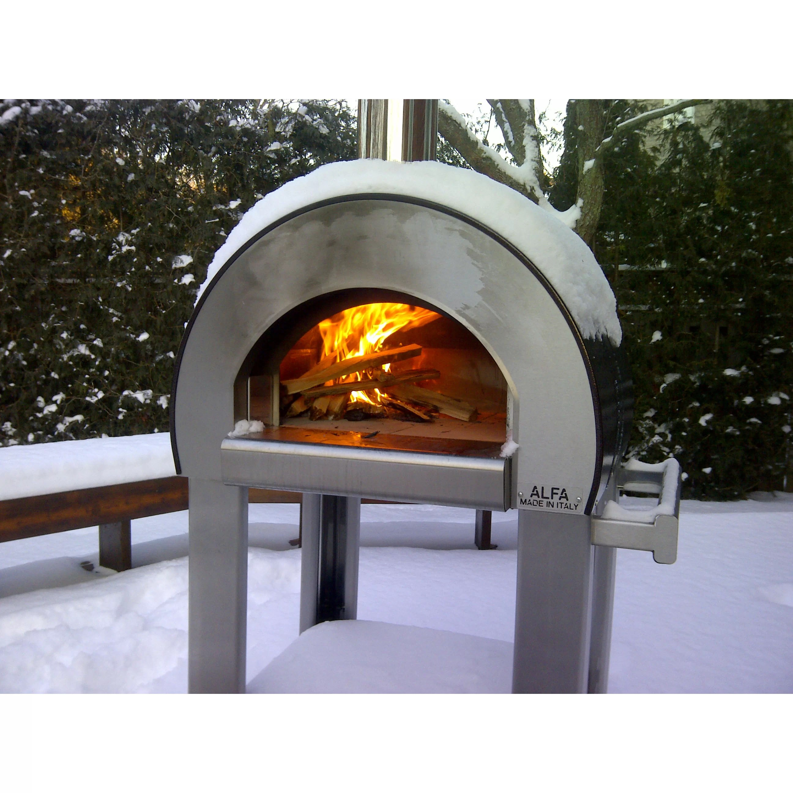 Alfa Pizza Forno 5 Wood Burning Pizza Oven  Reviews  Wayfair