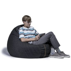 Denim Bean Bag Chair Graco High 3 In 1 Cocoon 4 39 Wayfair