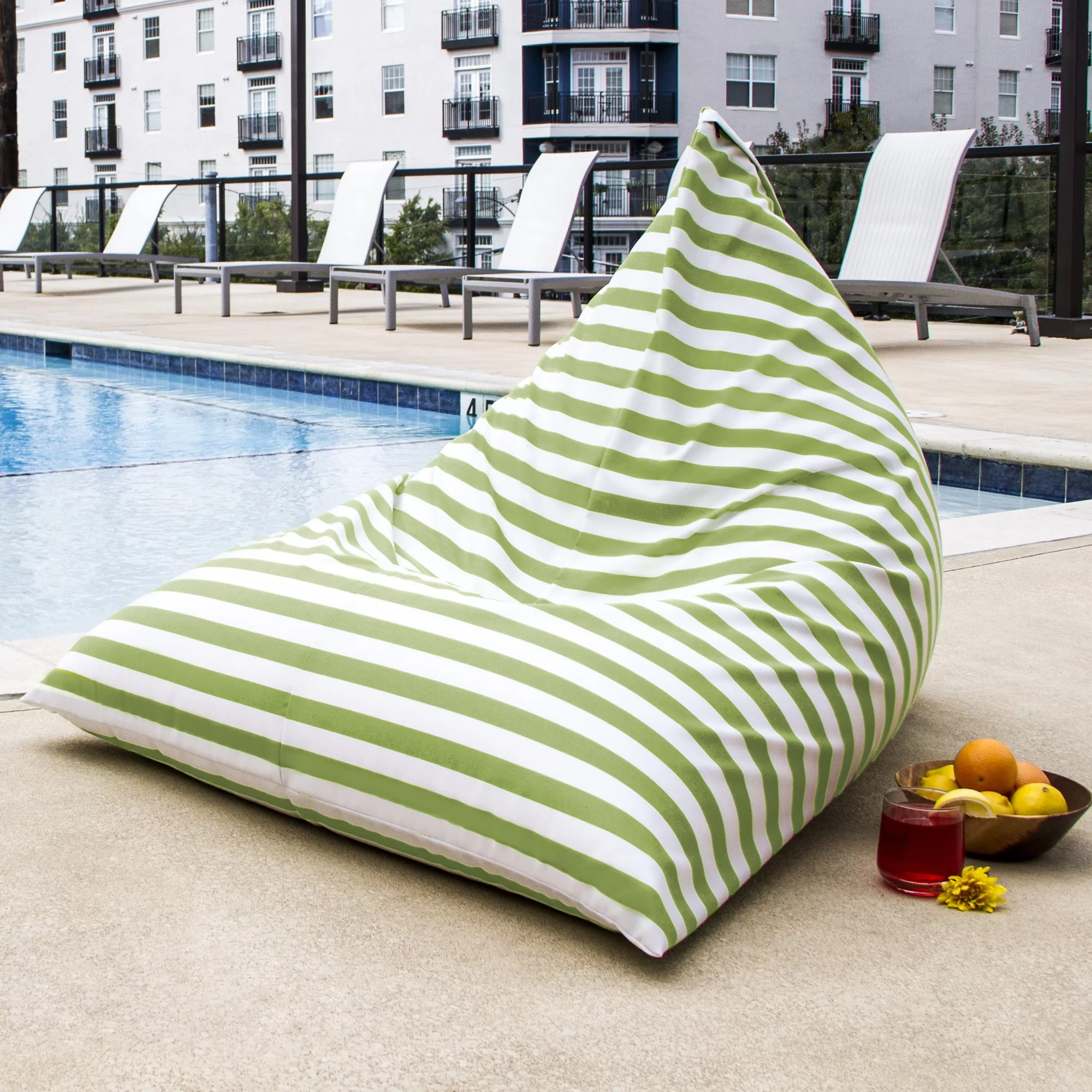 Outdoor Bean Bag Chairs Twist Outdoor Bean Bag Chair Wayfair