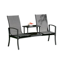 Tete A Chair Outdoor Lowes Rail Tile Suntime Living Havana Steel Bench