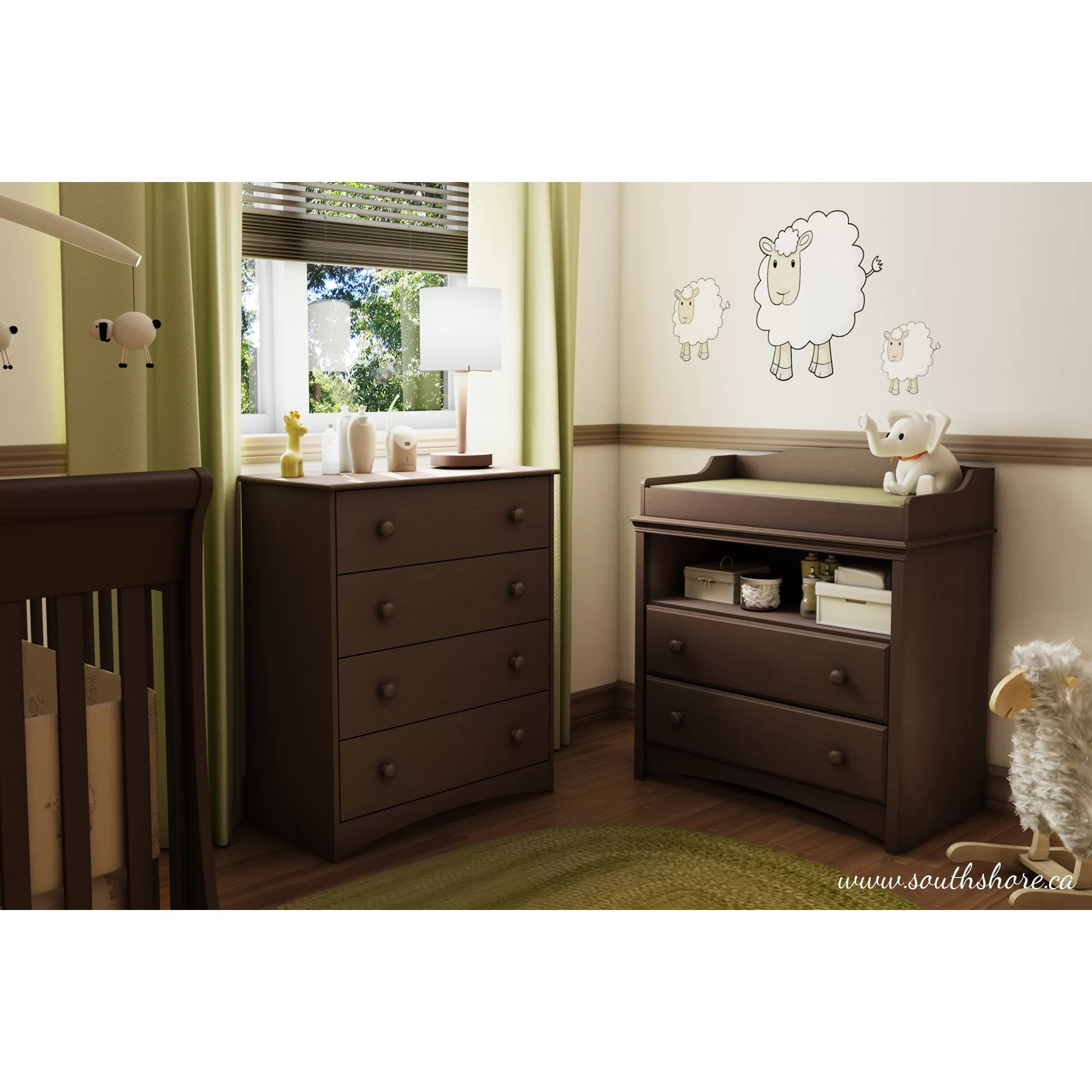 South Shore Heavenly Changing Table and Chest Set  Reviews  Wayfair