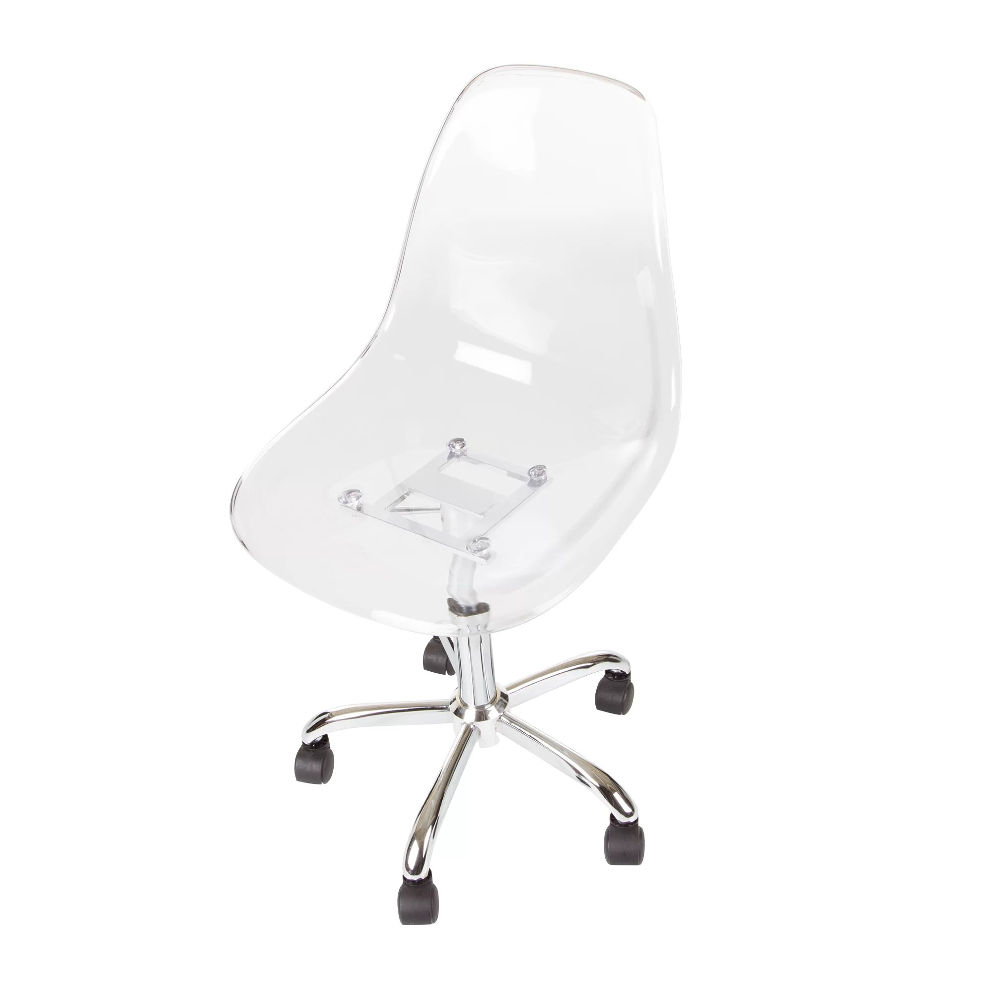 Clear Acrylic Chair South Shore Acrylic Office Chair And Reviews Wayfair