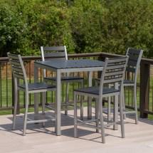 Outdoor Furniture Bar Height Patio Dining Set