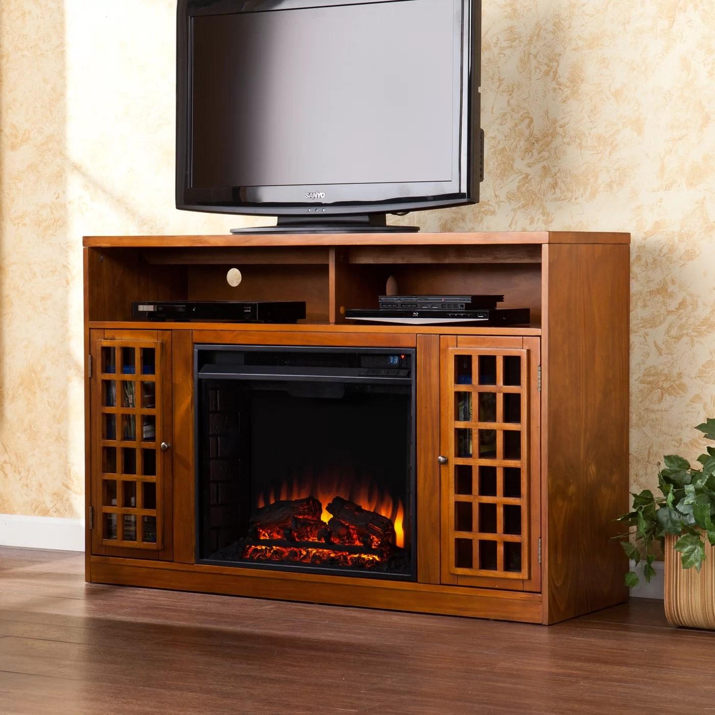 Lipan TV Stand with Electric Fireplace  Wayfair