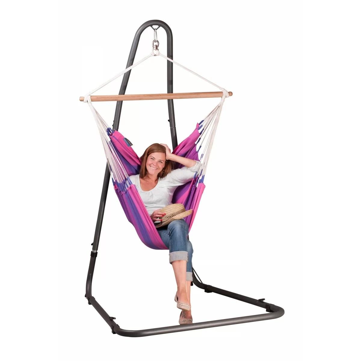 hammock chair stand adjustable french bistro la siesta mediterraneo for basic