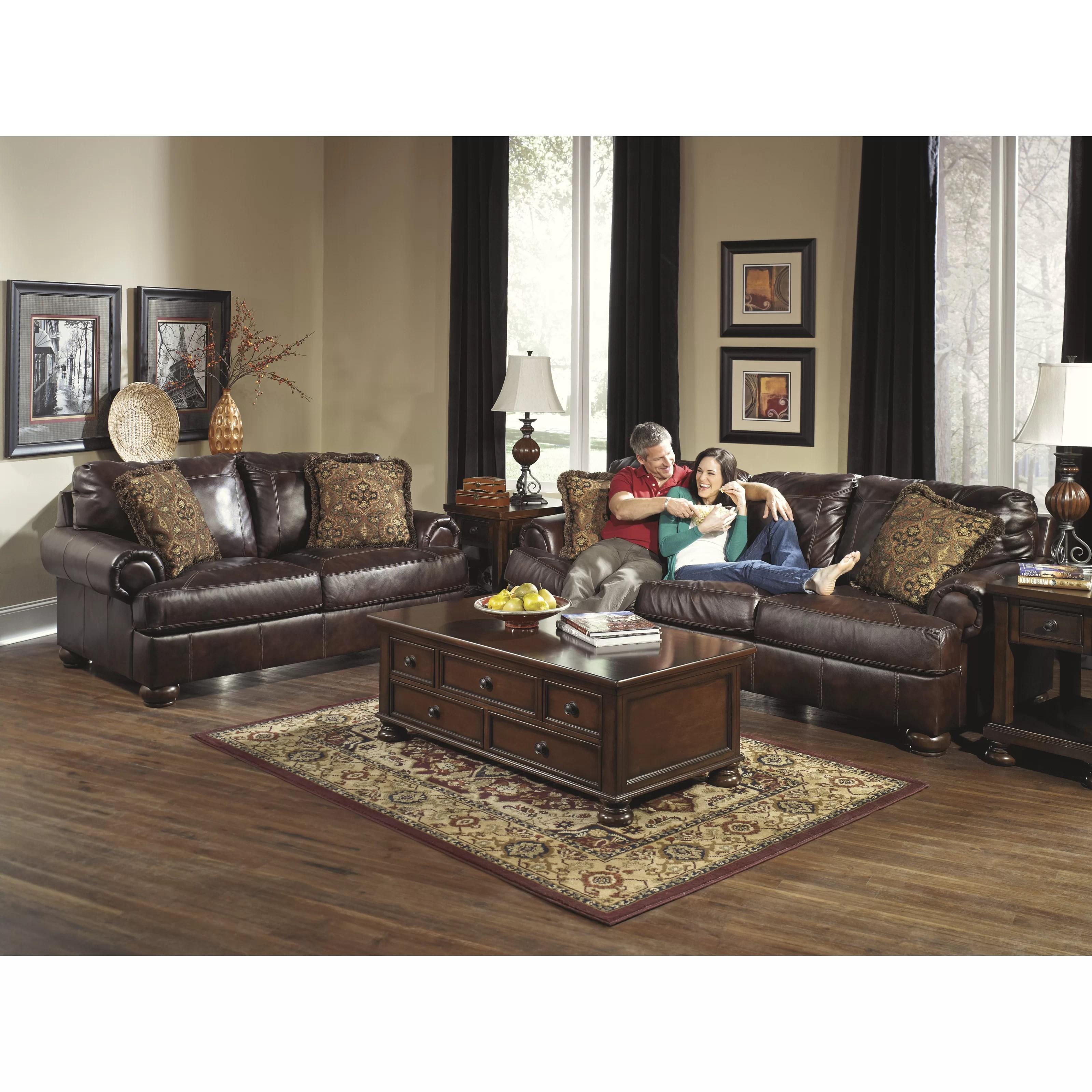 signature design by ashley harvest sleeper sofa small fabric sofas uk heath leather wayfair