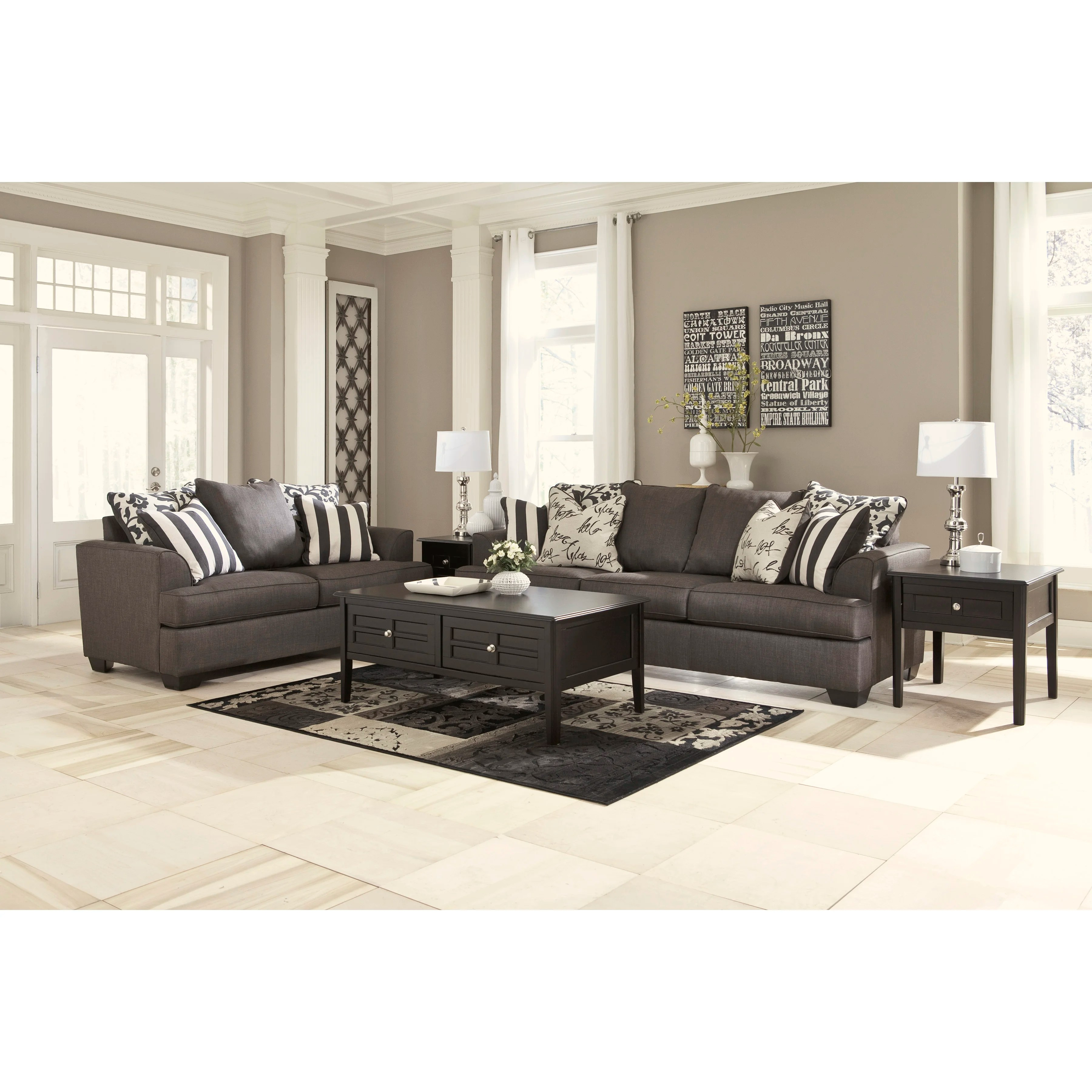 signature design by ashley harvest sleeper sofa interchangeable sectional bed with storage hobson wayfair