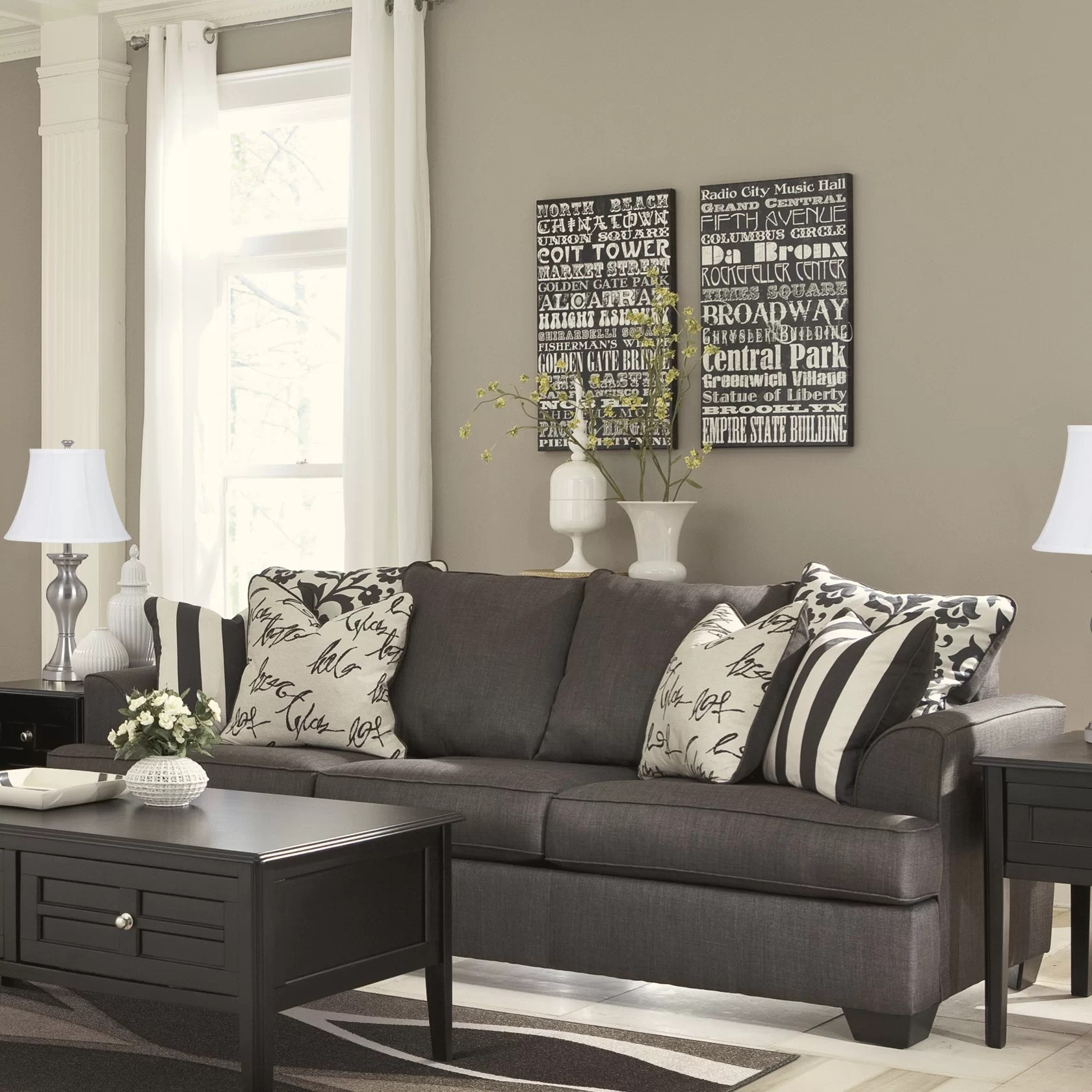 signature design by ashley harvest sleeper sofa making slipcovers for cushions hobson wayfair
