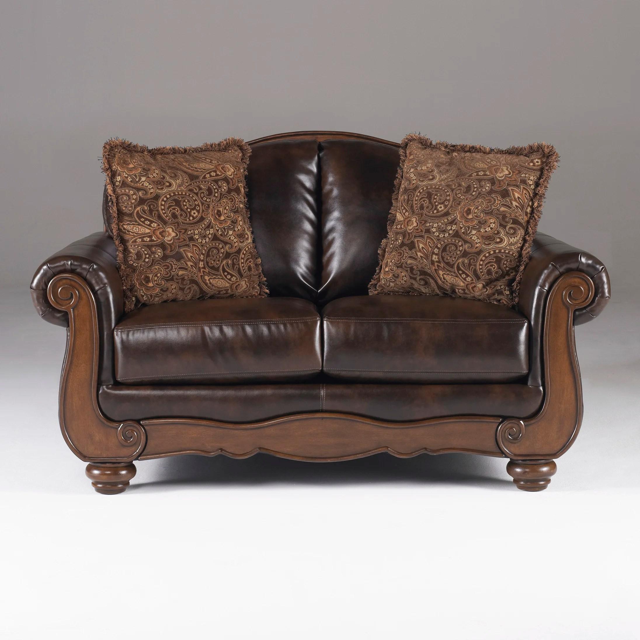 signature design by ashley harvest sleeper sofa fundas para sofas en leon maytown loveseat and reviews