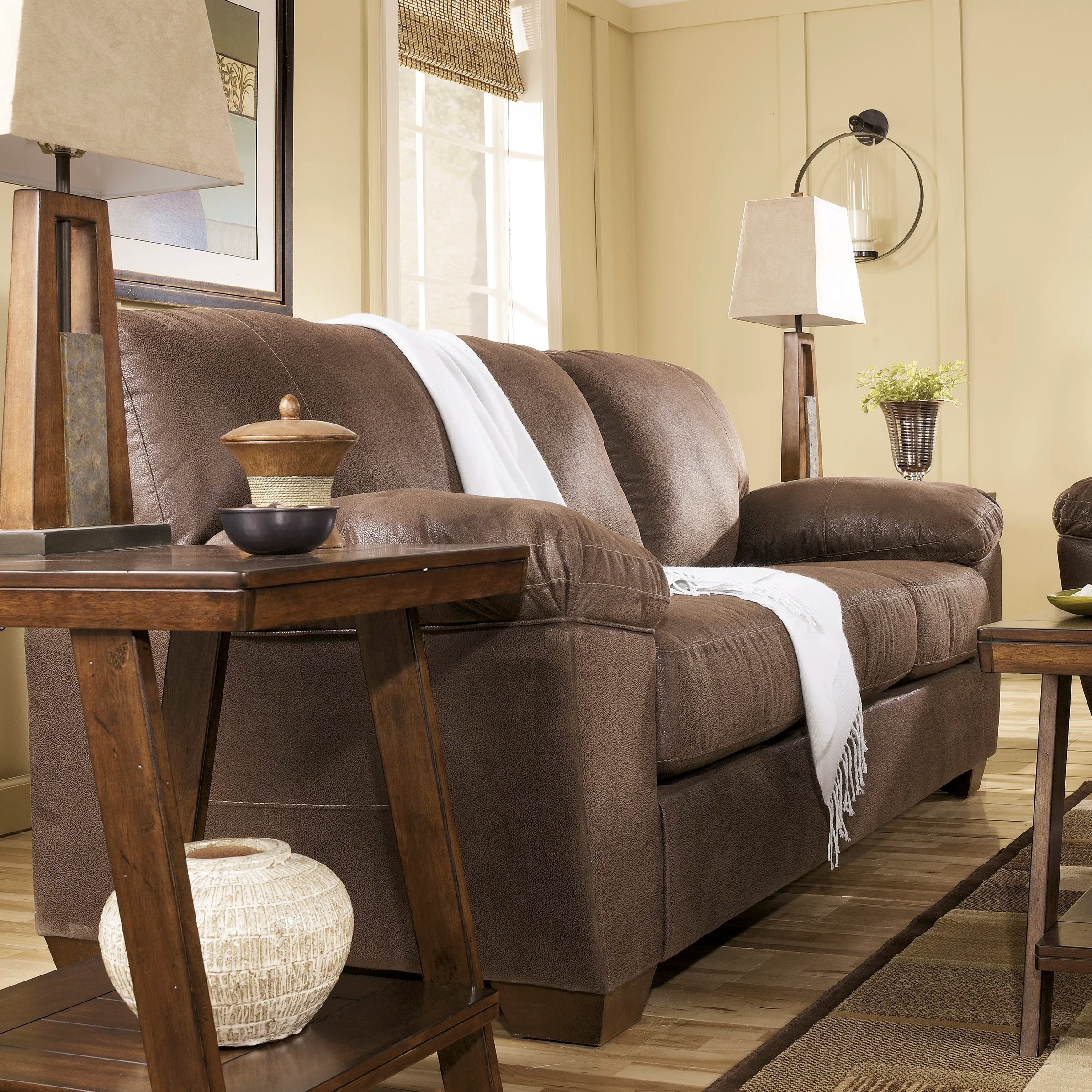 signature design by ashley harvest sleeper sofa how to clean microfiber silas and reviews wayfair