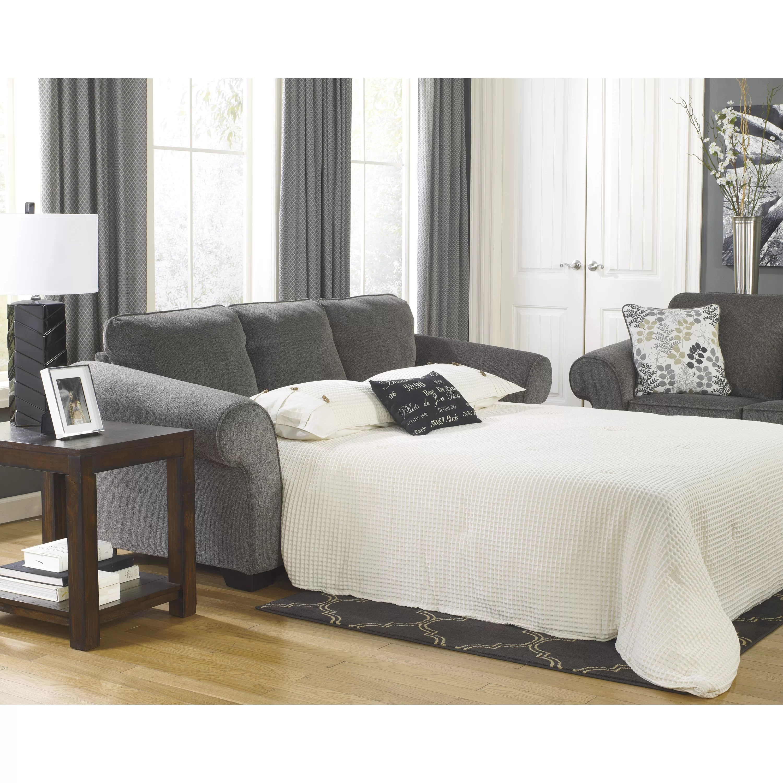 signature design by ashley harvest sleeper sofa dustin brown sofascore makonnen queen