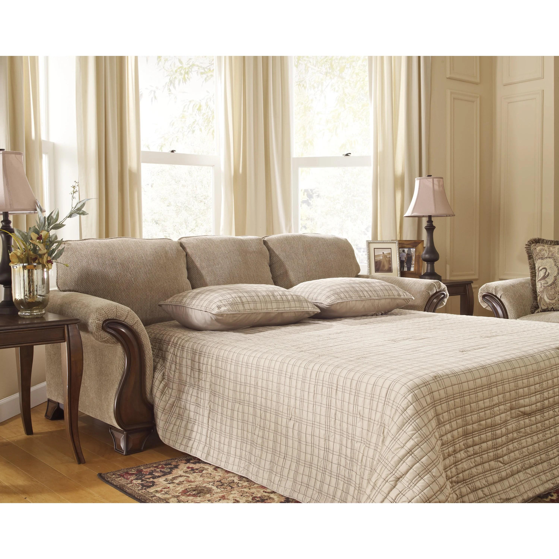 signature design by ashley harvest sleeper sofa tropical throw cover lanett queen wayfair