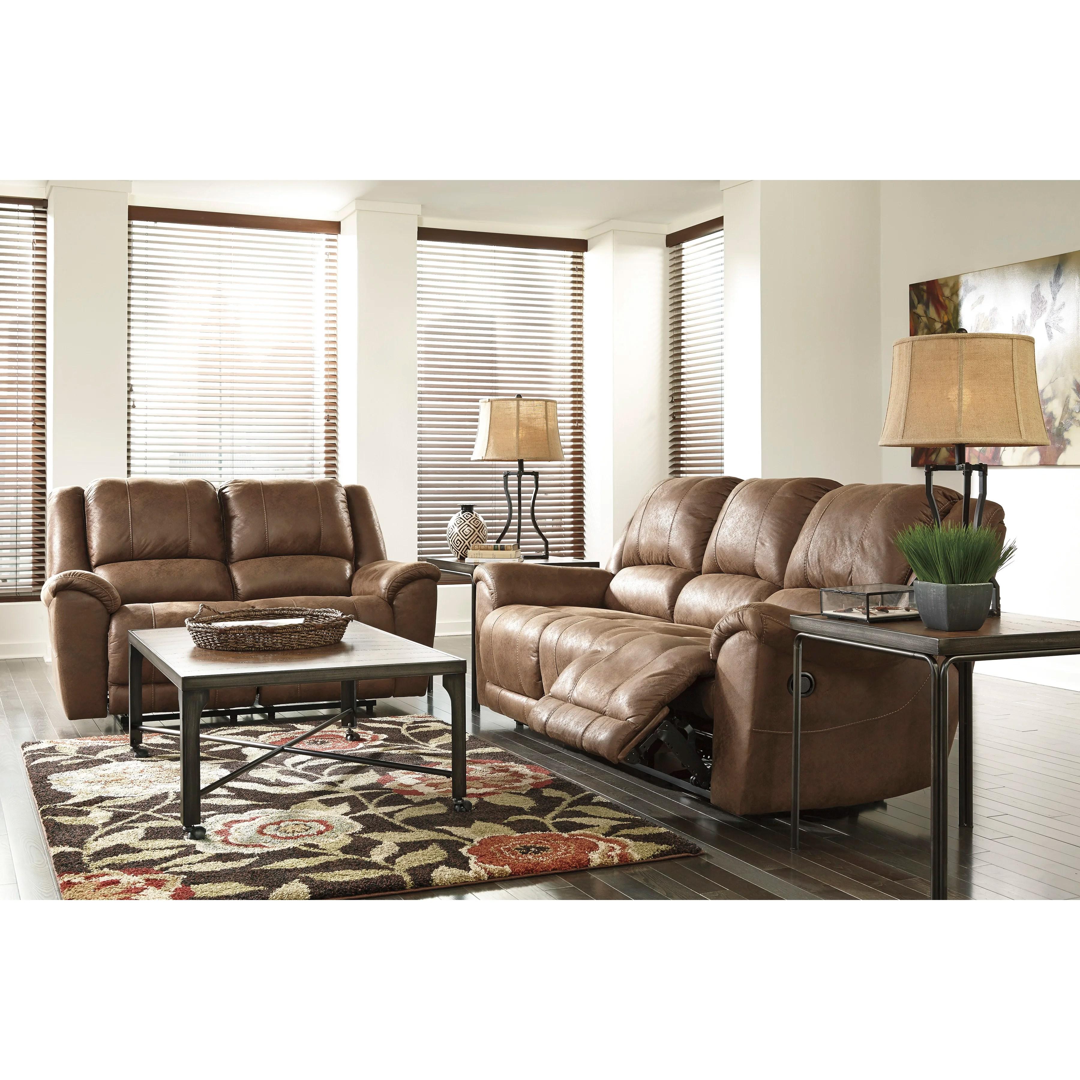 signature design by ashley harvest sleeper sofa tv table niarobi reclining wayfair