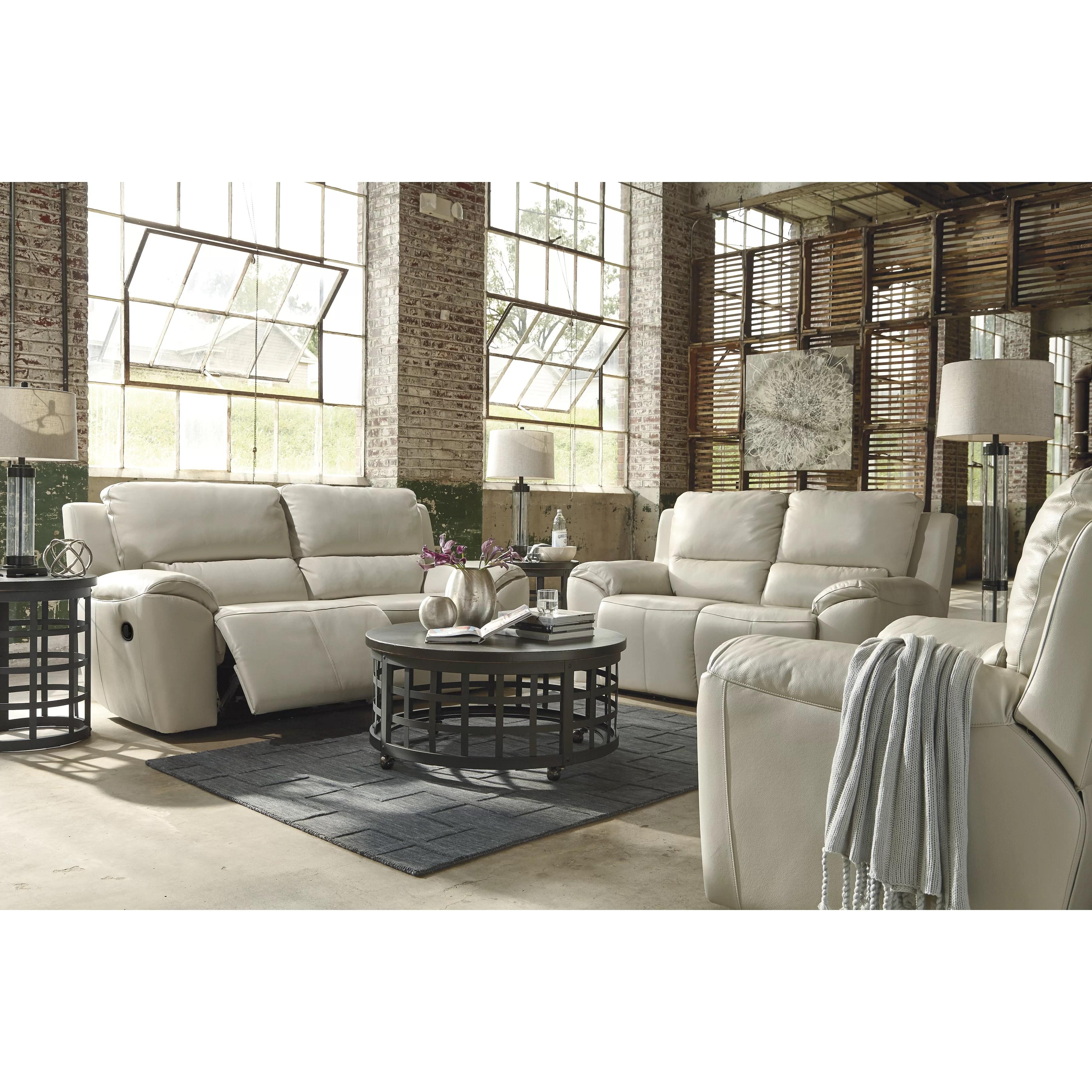 signature design by ashley harvest sleeper sofa grand tour leather 2 seat reclining wayfair