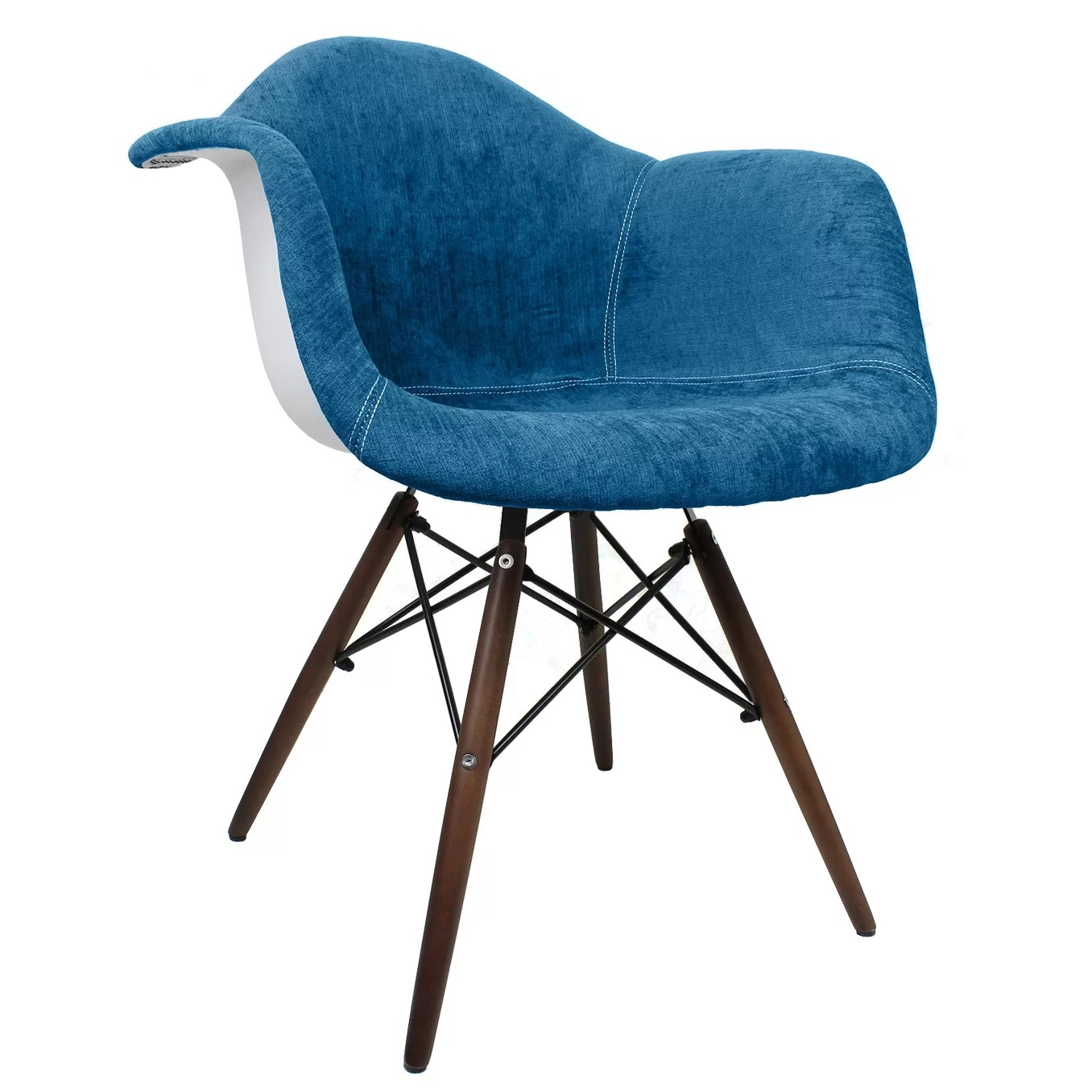 Blue Accent Chair With Arms Emodern Decor Style Arm Chair Wayfair