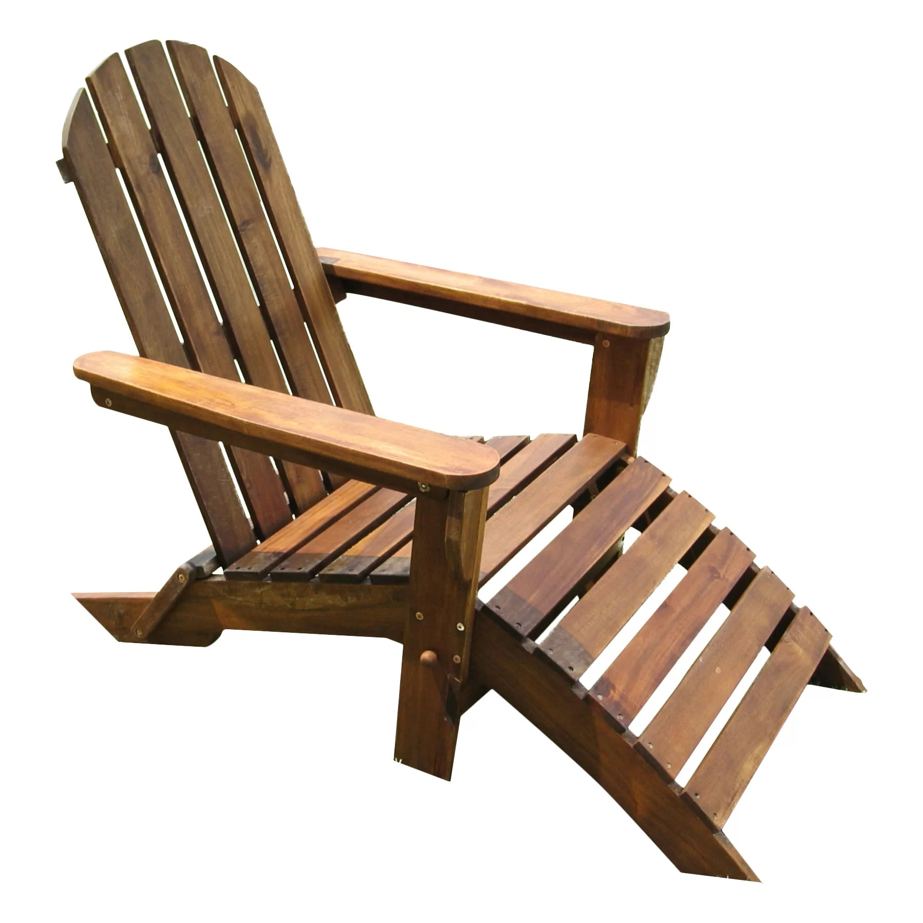 wayfair adirondack chairs folding visitor chair with footrest