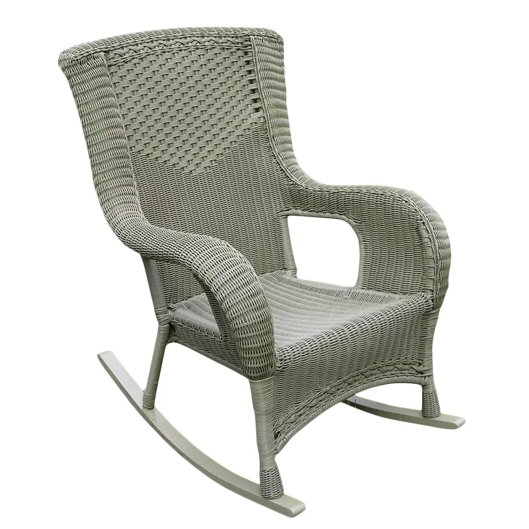 Resin Wicker Rocking Chair International Caravan San Tropez Wicker Resin Aluminum