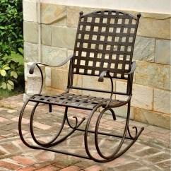 Iron Rocking Chair Yankee Stadium Chairs International Caravan Santa Fe Nailhead Patio