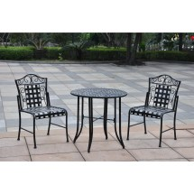 International Caravan Mandalay Iron 3 Piece Patio Bistro