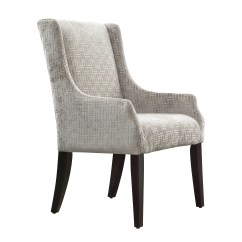 Grey Accent Chair With Arms Indoor Hanging Mandala Link Print Fabric Sloped Arm
