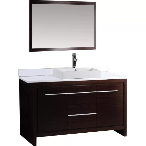 "Alexa 48"" Single Bathroom Vanity Set With Mirror"