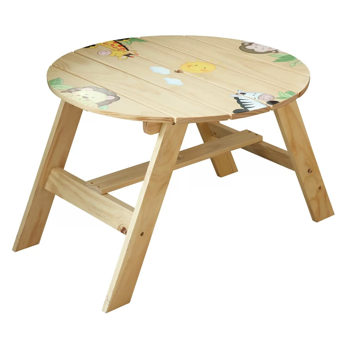kids round table and chairs folding chair tattoo 3 piece set wayfair