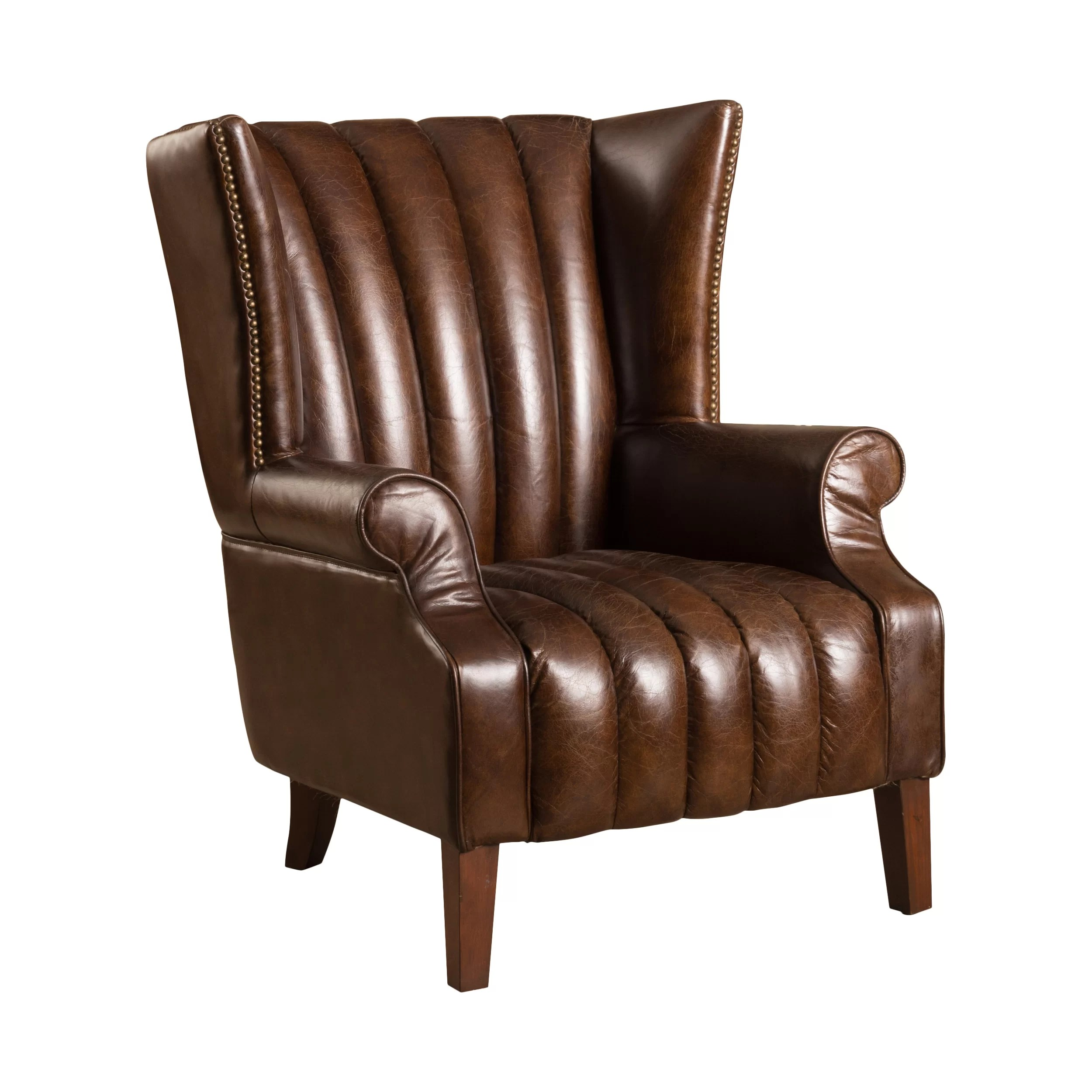 Club Chair Leather Grisson Leather Club Chair Wayfair