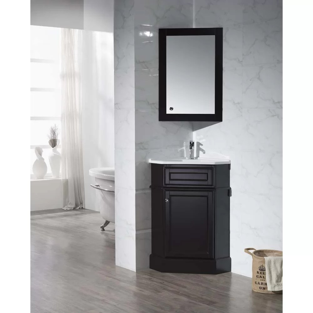 265 Single Corner Bathroom Vanity Set with Mirror  Wayfair
