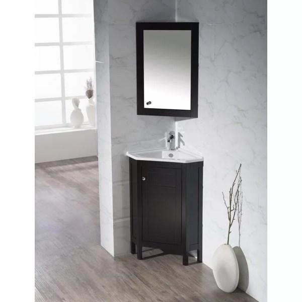 "Home Loft Concepts 24.25"" Single Corner Bathroom Vanity"