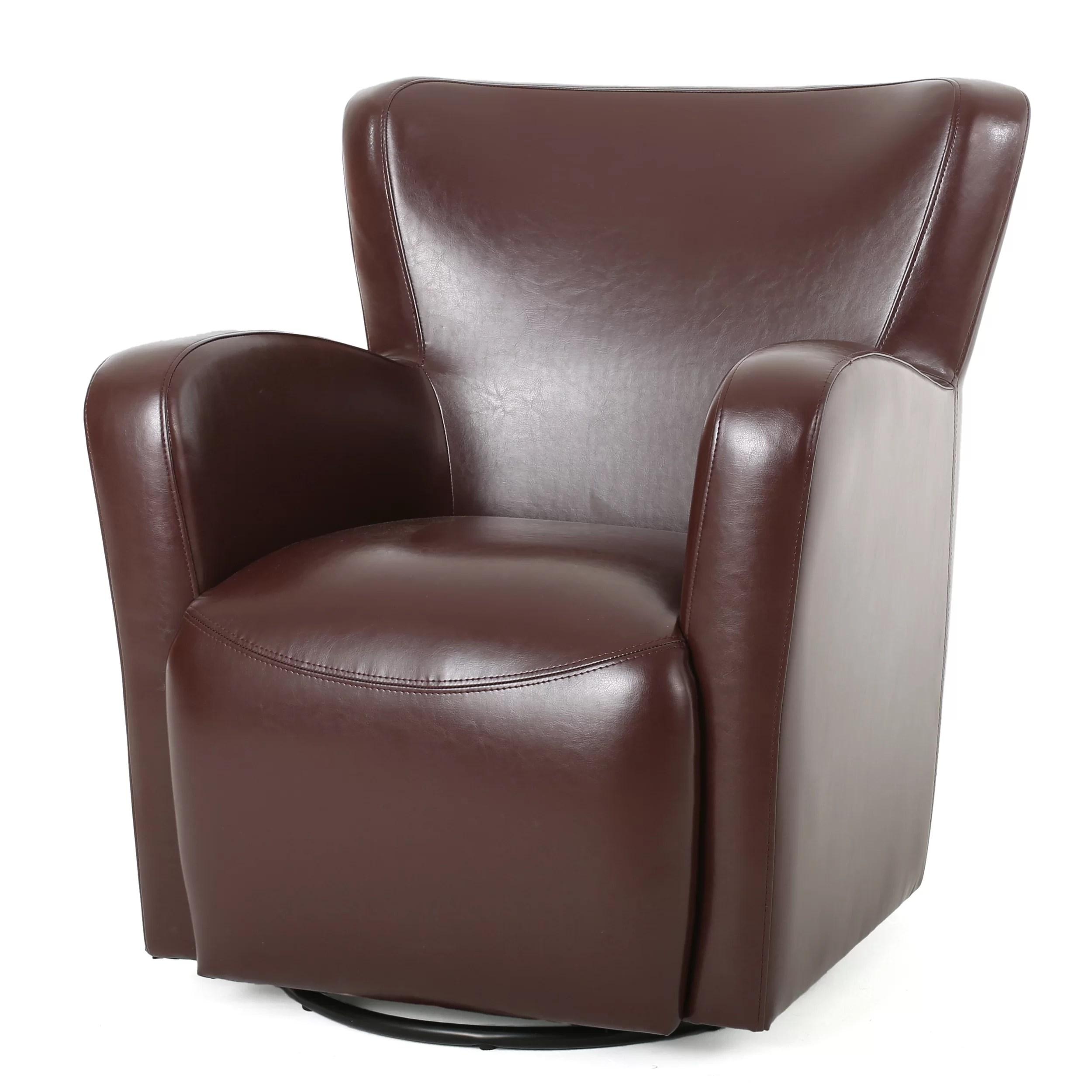 swivel club chair saucer nikolas wayfair
