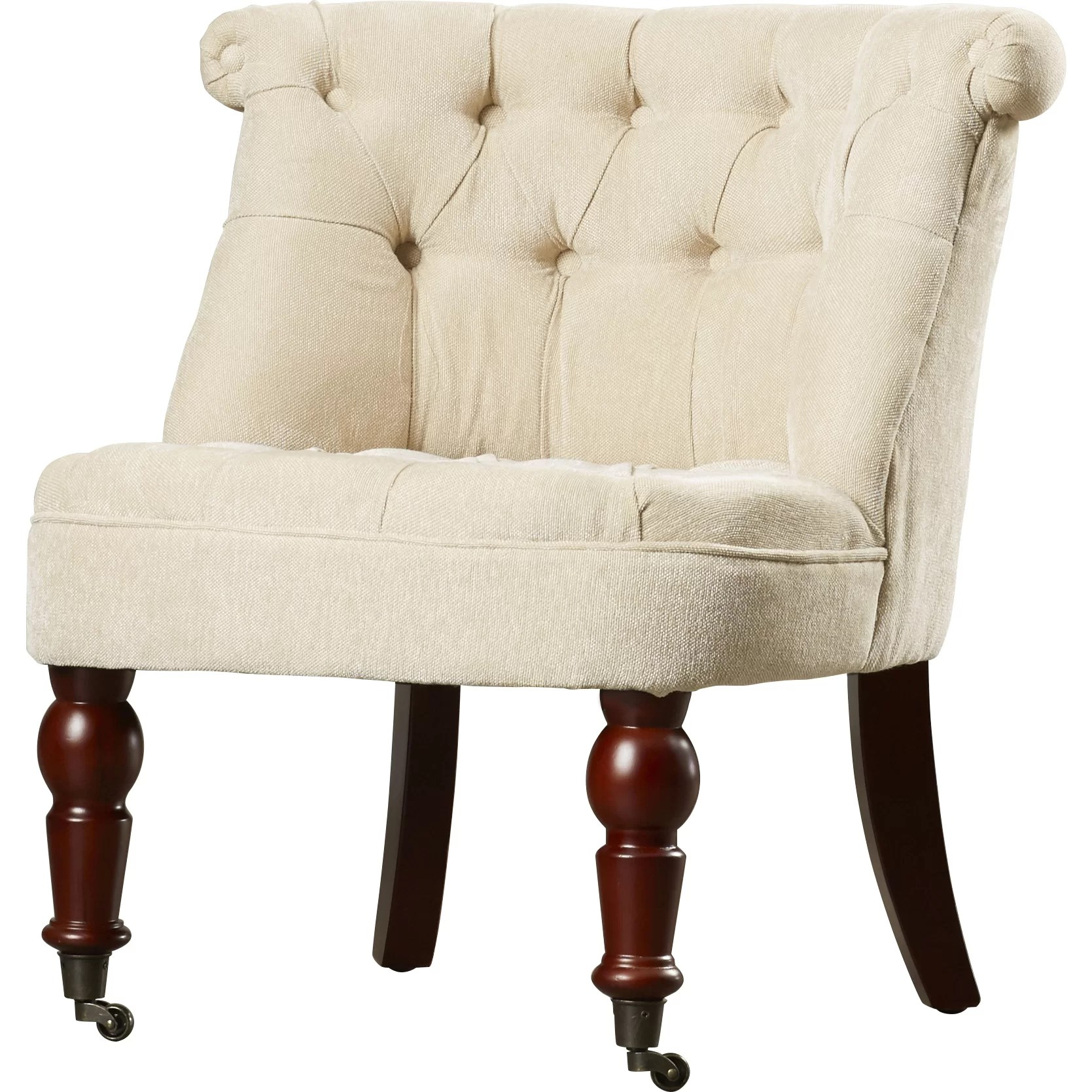 Tufted Slipper Chair Madrid Tufted Fabric Slipper Chair Wayfair