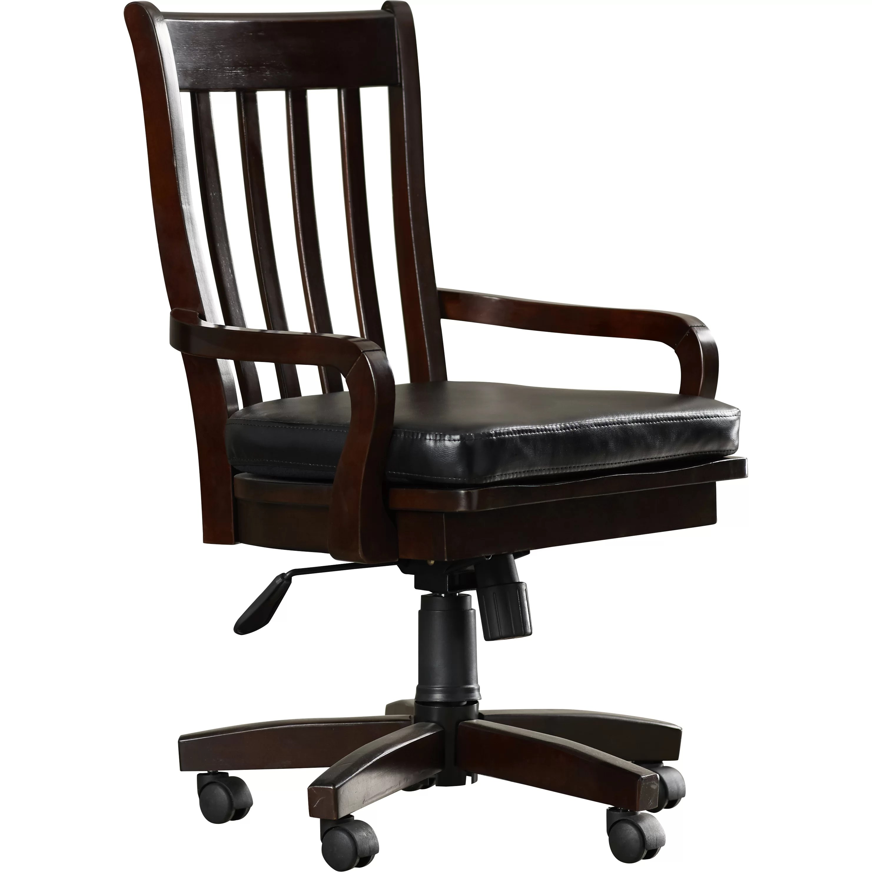 swivel chair no castors wassily reproduction three posts barrville high back arm with