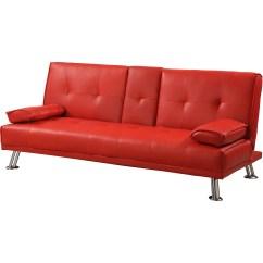 Rialto Faux Leather Futon Sofa Bed Companies Glasgow Divan Clic Clac Ikea - Maison Design Wiblia.com