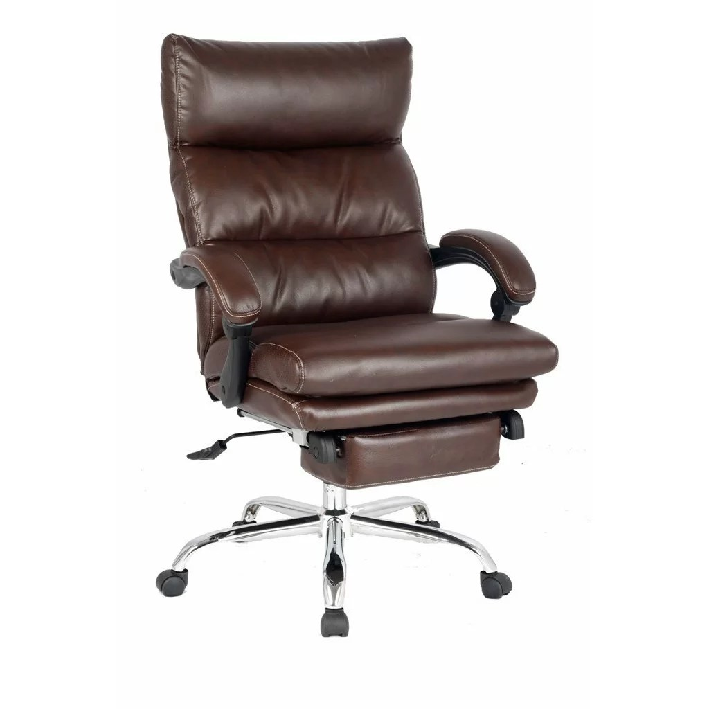 Viva Office HighBack Leather Executive Chair with Double Thick Padded Headrest and Armrest