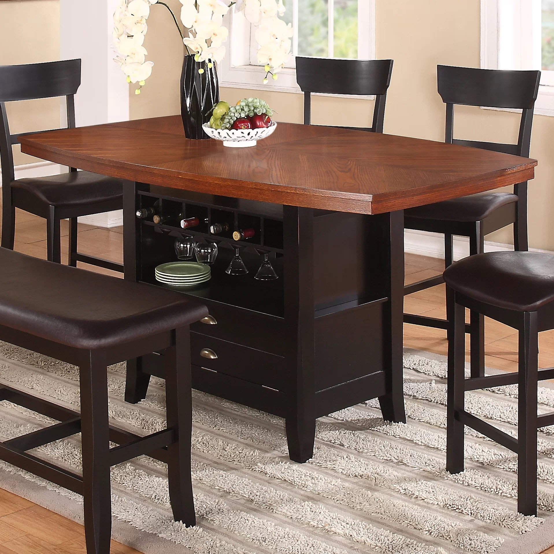 red counter height dining chairs recaro office chair philippines barrel studio wachusett table
