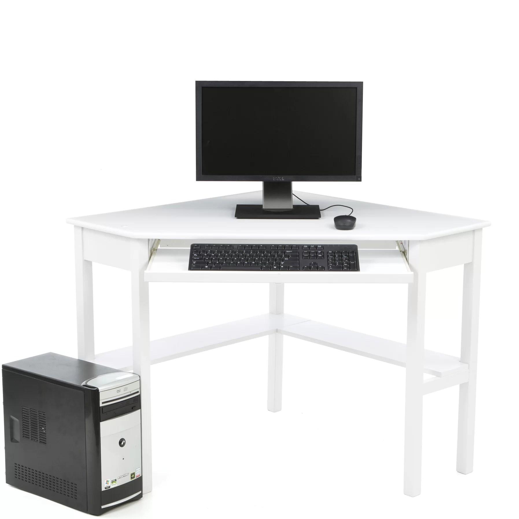 Red Barrel Studio Levin Computer Corner Desk In White Amp Reviews Wayfair