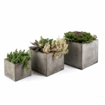 Spirit Garden 3 Piece Square Pot Planter Set &