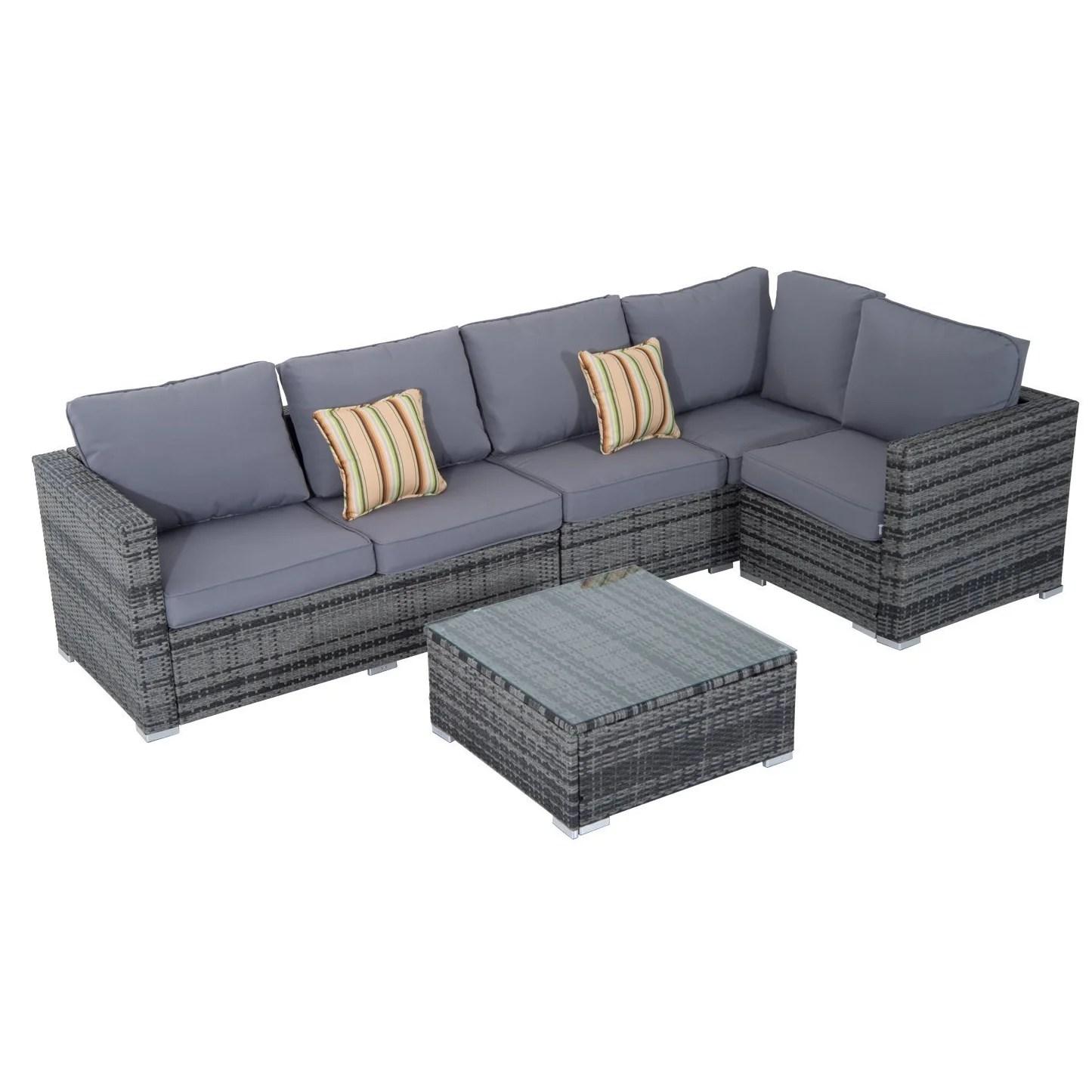cushion sofa set lafer 4 seater with wayfair uk