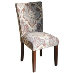 Damask Accent Chair Bailey Plans Homepop Kinfine Upholstered Parsons And Reviews