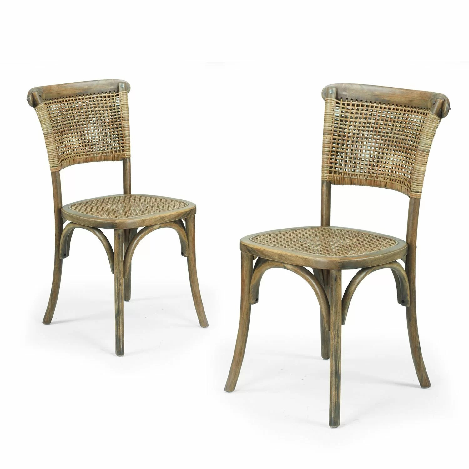 Dining Side Chairs Adecotrading Dining Cane Side Chair And Reviews Wayfair